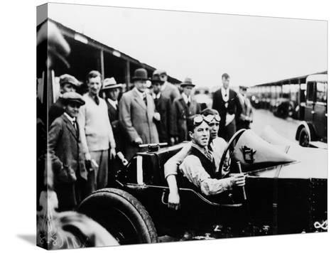 Jack Barclay in a Vauxhall Tt Car at Brooklands, Surrey--Stretched Canvas Print