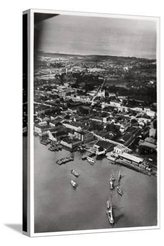 Aerial View of Natal, South Africa, from a Zeppelin, 1930--Stretched Canvas Print