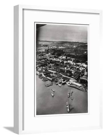 Aerial View of Natal, South Africa, from a Zeppelin, 1930--Framed Art Print