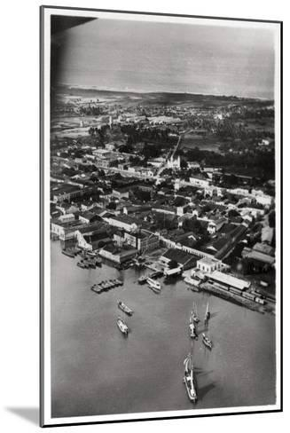 Aerial View of Natal, South Africa, from a Zeppelin, 1930--Mounted Giclee Print