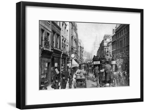Fleet Street as Seen from Opposite Salisbury Court, London, 1880--Framed Art Print