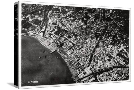 Aerial View of Funchal, Madeira, from a Zeppelin, 1928--Stretched Canvas Print