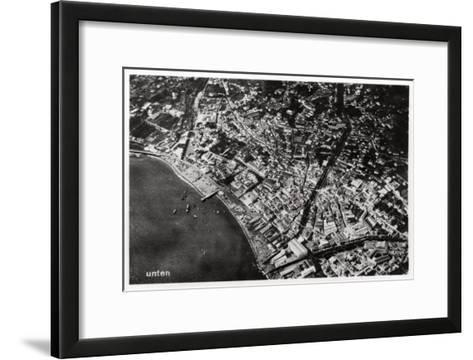 Aerial View of Funchal, Madeira, from a Zeppelin, 1928--Framed Art Print