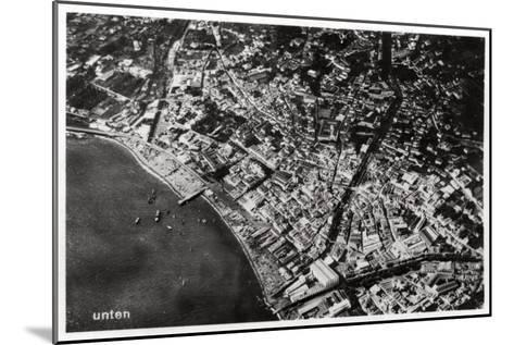 Aerial View of Funchal, Madeira, from a Zeppelin, 1928--Mounted Giclee Print