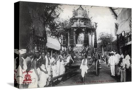 The Silver Chariot of the Chettiars, Saigon, Vietnam, 1912--Stretched Canvas Print
