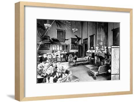 The Red Drawing Room in the Speaker's House, Palace of Westminster, London, C1905--Framed Art Print