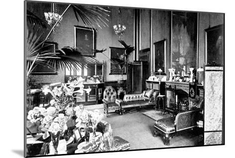 The Red Drawing Room in the Speaker's House, Palace of Westminster, London, C1905--Mounted Giclee Print