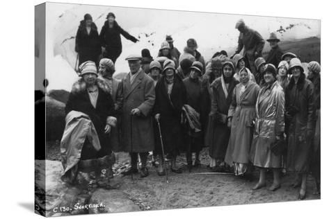 Group of Tourists Visiting Svartisen, Northern Norway, 1929--Stretched Canvas Print
