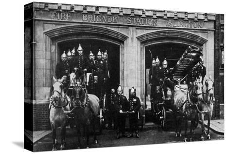 Islington Fire Brigade, London, 1901--Stretched Canvas Print