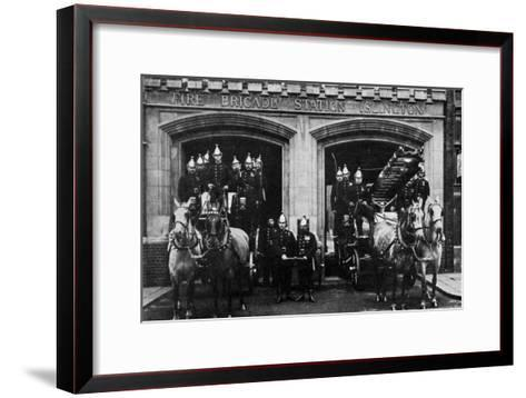 Islington Fire Brigade, London, 1901--Framed Art Print