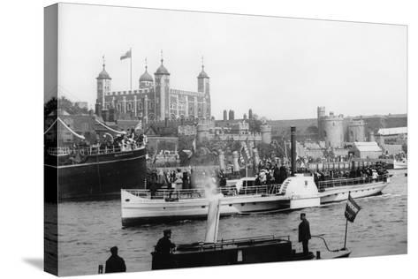 The Opening of Tower Bridge, London, 1894--Stretched Canvas Print