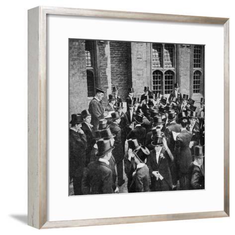 Roll Call of Etonians on the 4th June, Berkshire, C1922--Framed Art Print