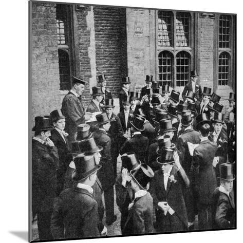 Roll Call of Etonians on the 4th June, Berkshire, C1922--Mounted Giclee Print