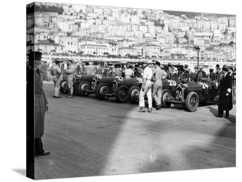 A Line of Alfa Romeos at the Monaco Grand Prix, 1934--Stretched Canvas Print