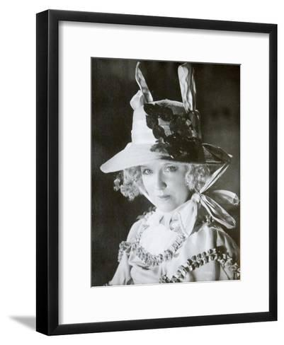 Mariya Babanova, Russian Actress, 1923--Framed Art Print