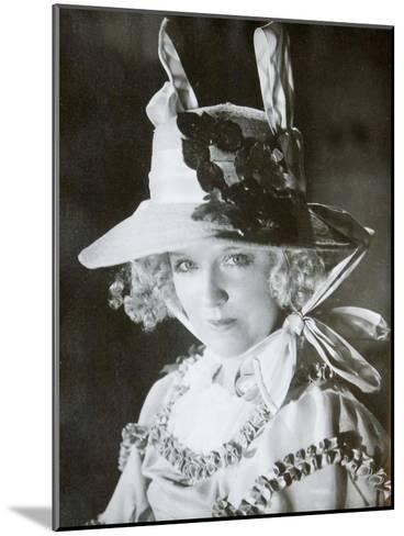 Mariya Babanova, Russian Actress, 1923--Mounted Giclee Print