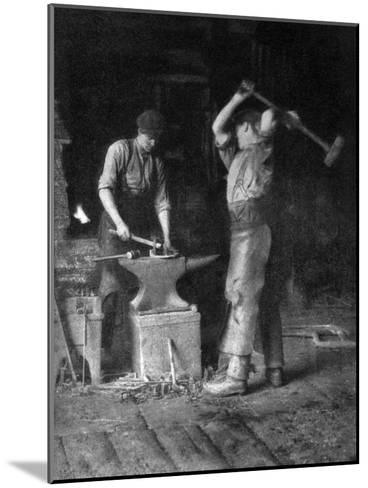 The Smithy, 1911-1912--Mounted Giclee Print