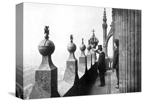 Gallery Above the Clock Face, Big Ben, Palace of Westminster, London, C1905--Stretched Canvas Print