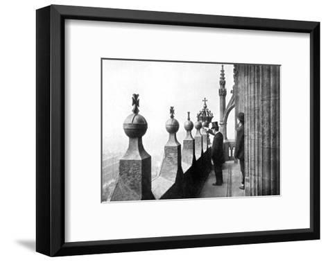 Gallery Above the Clock Face, Big Ben, Palace of Westminster, London, C1905--Framed Art Print