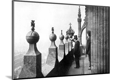 Gallery Above the Clock Face, Big Ben, Palace of Westminster, London, C1905--Mounted Giclee Print