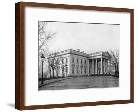 The North Portico of the White House, Washington D.C., USA, 1908--Framed Art Print