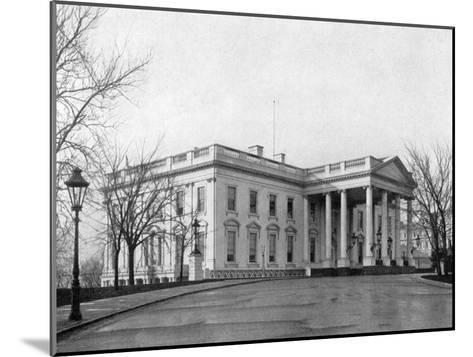 The North Portico of the White House, Washington D.C., USA, 1908--Mounted Giclee Print