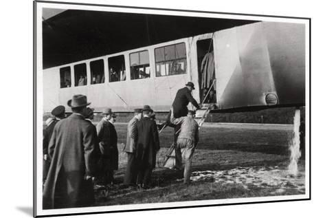 Passengers Boarding Zeppelin LZ 11 Viktoria Luise, C1912-1914--Mounted Giclee Print