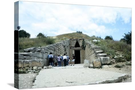 Entrance of a Tumulus at Mycenae, Late Bronze Age, Greece, C1450-C1100 Bc--Stretched Canvas Print
