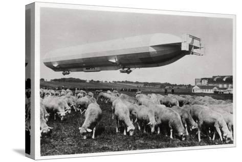 Zeppelin LZ8 Deutschland II, Schwaben, Germany, 1911--Stretched Canvas Print