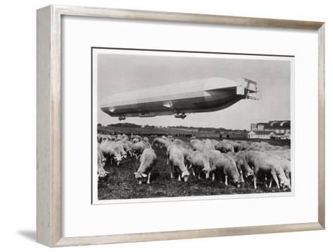 Zeppelin LZ8 Deutschland II, Schwaben, Germany, 1911--Framed Art Print