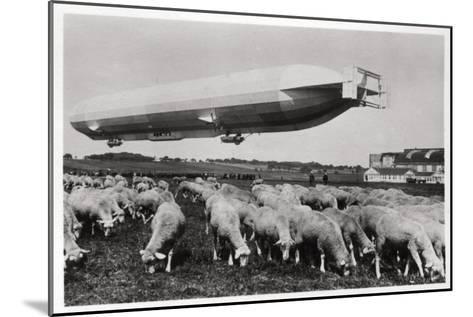 Zeppelin LZ8 Deutschland II, Schwaben, Germany, 1911--Mounted Giclee Print