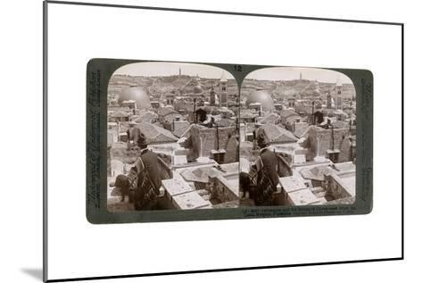 Jerusalem and the Mount of Olives, Looking East from the Latin Hospice, Palestine, 1900s-Underwood & Underwood-Mounted Giclee Print