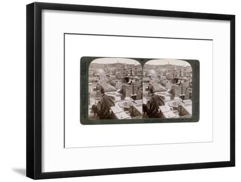 Jerusalem and the Mount of Olives, Looking East from the Latin Hospice, Palestine, 1900s-Underwood & Underwood-Framed Art Print