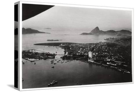 Aerial View of Rio De Janeiro, Brazil, from a Zeppelin, 1930--Stretched Canvas Print