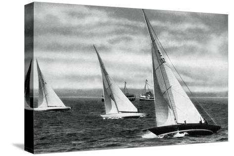 Six Metre R Class Sailing, Berlin Olympics, 1936--Stretched Canvas Print