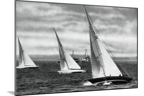 Six Metre R Class Sailing, Berlin Olympics, 1936--Mounted Giclee Print