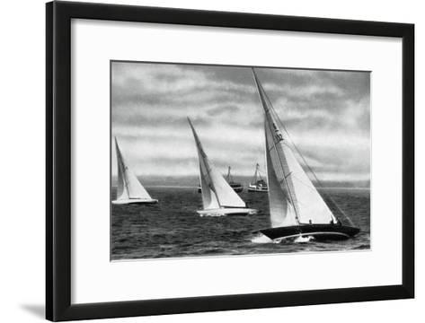 Six Metre R Class Sailing, Berlin Olympics, 1936--Framed Art Print
