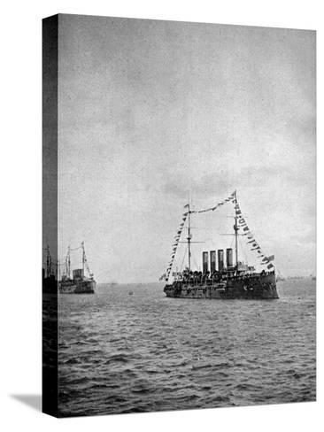 Naval Review Off the Coast of Portsmouth, 1907--Stretched Canvas Print