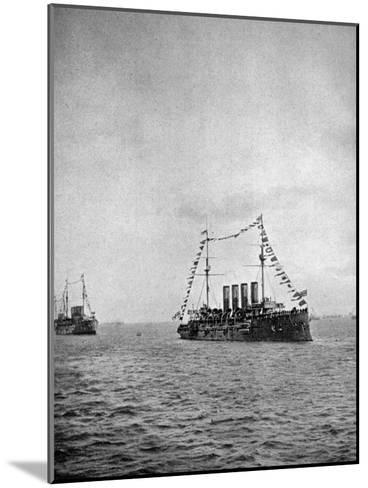 Naval Review Off the Coast of Portsmouth, 1907--Mounted Giclee Print