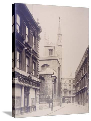 St Mary Axe and St Andrew Undershaft, London, 1911--Stretched Canvas Print
