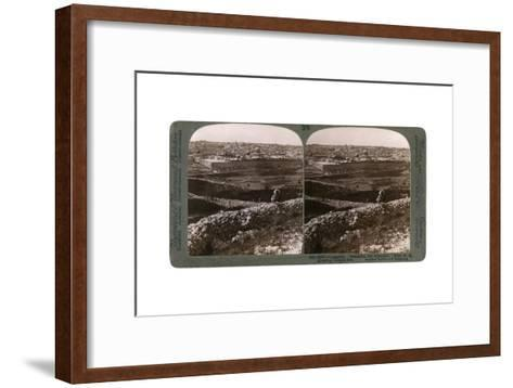 Jerusalem, as Seen from the South-East, Showing the Site of the Temple, Palestine, 1900s-Underwood & Underwood-Framed Art Print