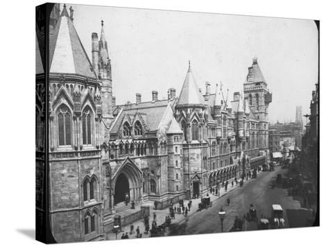 New Law Courts, London, Late 19th Century--Stretched Canvas Print