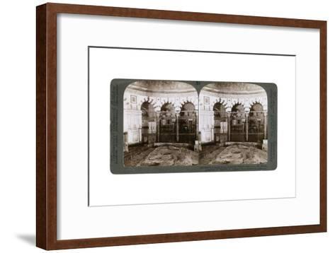 The Sacred Rock, Where the Temple Alter Stood, Mount Moriah, Jerusalem, Palestine, 1900-Underwood & Underwood-Framed Art Print