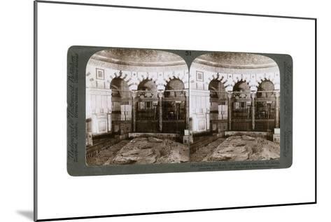 The Sacred Rock, Where the Temple Alter Stood, Mount Moriah, Jerusalem, Palestine, 1900-Underwood & Underwood-Mounted Giclee Print