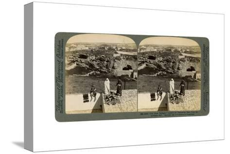 Jerusalem as Seen from the Damascus Gate, Palestine, 1901-Underwood & Underwood-Stretched Canvas Print