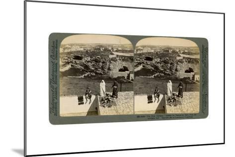 Jerusalem as Seen from the Damascus Gate, Palestine, 1901-Underwood & Underwood-Mounted Giclee Print
