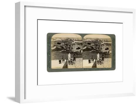 Jerusalem as Seen from the Damascus Gate, Palestine, 1901-Underwood & Underwood-Framed Art Print
