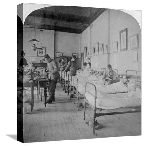 Ward in General Hospital No 10, Formerly Grey's College, Bloemfontein, South Africa, 1901-Underwood & Underwood-Stretched Canvas Print