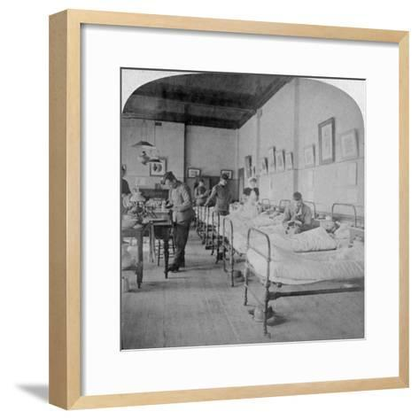 Ward in General Hospital No 10, Formerly Grey's College, Bloemfontein, South Africa, 1901-Underwood & Underwood-Framed Art Print