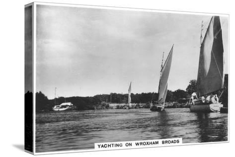 Yachting on Wroxham Broads, 1936--Stretched Canvas Print